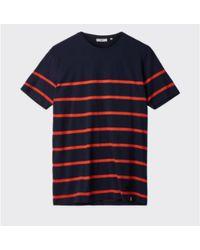 Minimum Navy Medinow T Shirt - Blue