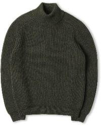 Edwin Roni High Collar Sweat Uniform Green