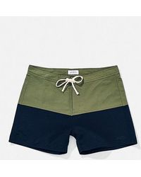 Saturdays NYC Short de bain Ennis Sage Midnight Nylon - Bleu