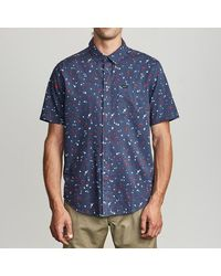 RVCA Camicia Button Up Calico Moody Blue