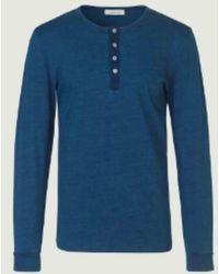 Samsøe & Samsøe T-shirt Batala bleu indigo