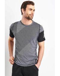 adidas Grey Free Lift 360 Starkes grafisches T-Shirt - Mehrfarbig