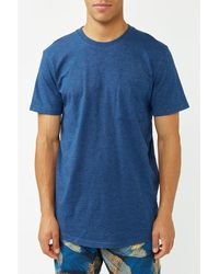 SELECTED T-shirt Chuck bleu foncé chiné