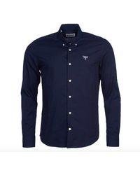 Barbour Leuchtfeuer Seathwaite Langarm Shirt Navy - Blau