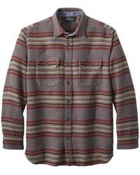 Pendleton Camisa Driftwood L S Stripe Mineral Umber Stripe - Marrón
