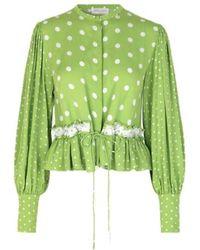 Stine Goya Camicia a pois verde mena