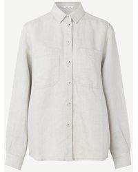 Samsøe & Samsøe - Camisa Manz Blanco Cálido - Lyst