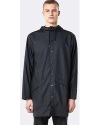 Rains - Black Long Jacket - Lyst