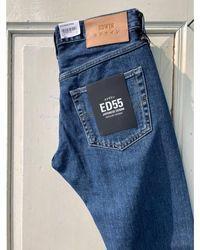 Edwin ED-55 Yoshiko Left Hand Denim Blue Aki Wash 12.6oz - Blau
