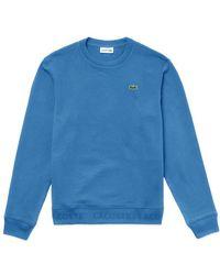 Lacoste - Crew Sweat Sh 4385 Ibiza Blue - Lyst