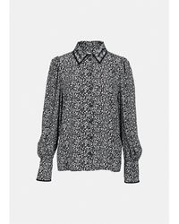Essentiel Antwerp Pire chemise à manches bouffantes en noir