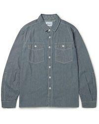 Albam Camisa de trabajo de carpinteros Indigo Stripe - Azul