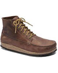 Birkenstock Marton Oiled Leather Roast 1017142 Shoes - Brown