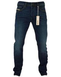 DIESEL Belther 814 W Tapered Stretch Jeans Dark Blue