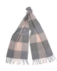 Barbour S Wilton Scarf Pink Gray