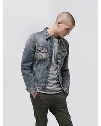 Nudie Jeans - Billy Shimmering Organic Cotton Denim Jacket - Lyst