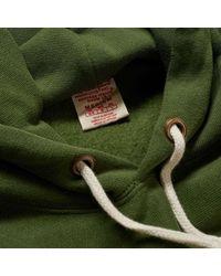 Champion Reverse Weave Script Logo Hoody Bottle Green - Vert