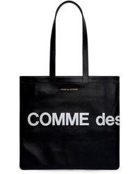 Comme des Garçons Bolso de mano con logotipo enorme Wallet (negro) SA9001HL