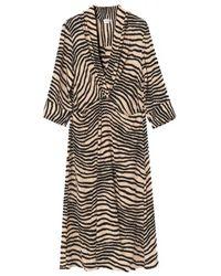 By Malene Birger Https://www.trouva.com/it/products/by-malene-birger-dry-desert-deep-v-neck-keelia-dress - Multicolore