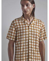 NN07 Camisa de lino en amarillo cálido de Miyagi