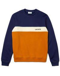 Lacoste Https://www.trouva.com/it/products/-crew-neck-lettering-colourblock-pique-sweatshirt - Blu