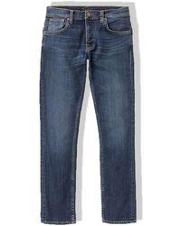 Nudie Jeans Jeans slim fit Grim Tim (Indigo Myth) - Blu