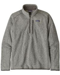 Patagonia Jersey Better Sweater 1/4 Zip Fleece Stonewash - Gris