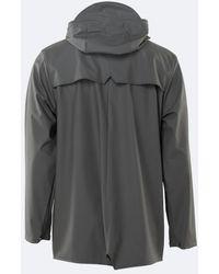 Rains Charcoal 1201 Unisex Rain Jacket - Gray