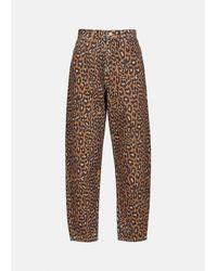 Essentiel Antwerp Vaqueros Zeland con estampado leopardo en marrón y negro - Multicolor