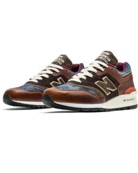 New Balance M997soc Made In Usa Brown & Blue Shoes