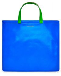 Comme des Garçons Wallet Super Fluo Tote Bag (Azul / Naranja) SA9000SF