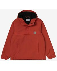 Carhartt Nimbus Pullover Jacket Brick Orange - Red