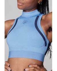 adidas By Stella McCartney True Pace HEAT RDY Primeblue Crop Top Storm Blue Marine Collégiale - Bleu