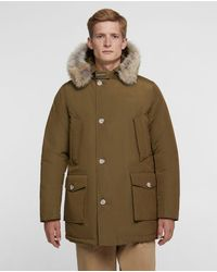 Woolrich Parka ártica de pelo desmontable de madera verde