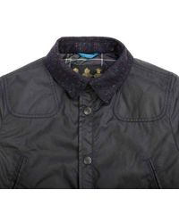 Barbour - Reelin Wax Navy Jacket - Lyst