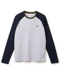 43a973993a Mens Long Sleeve T-shirt. $76. Country House Outdoor. Lacoste - Bicolour  Jersey L S T Shirt - Lyst
