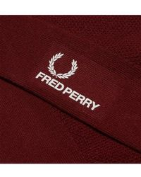 Fred Perry Chaussettes Stadium À Bout Rouge
