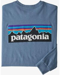 Patagonia Ms L S P 6 Logo Responsibili Tee Pigeon Blue