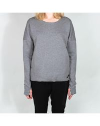 Nike T-shirt en molleton technique gris femme