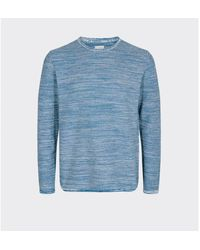 Minimum True Navy Melange Reiswood Sweater - Blue