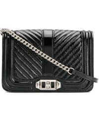 Rebecca Minkoff Small Love Crossbody Bag Naplac - Black