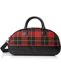Fred Perry Subculture Tartan Grip Bag 7010 943 - Red