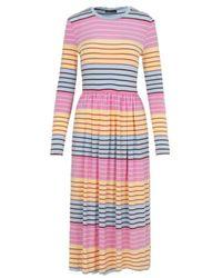 Stine Goya Joel Dress In Colorful Stripes - Multicolore