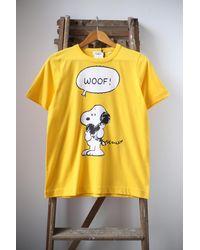 Chinti & Parker T-shirt jaune Snoopy Woof