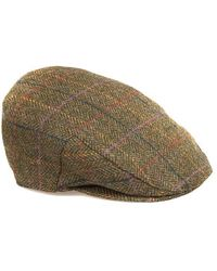Barbour Moons Tweed Cap Green Herringbone - Verde
