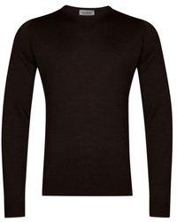 John Smedley Lundy Pullover Chestnut - Black