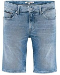 Tommy Hilfiger Tommy Jeans Scanton Slim Denim Shorts Hampton Light Stretch - Bleu
