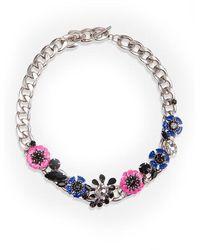 Essentiel Antwerp Vreally Pink Flower Necklace - Blue