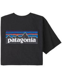 Patagonia P6 Pocket Logo Responsabili Tee - Nero