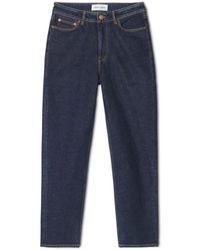 Samsøe & Samsøe Https://www.trouva.com/it/products/-marianne-boyfriend-cut-jeans-authentic-wash - Blu